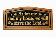 CNC Wall Plaque: As for me and my house�