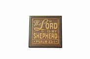 Wall Plaque: the Lord is my shepherd